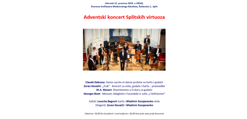Adventski koncert splitskih virtuoza